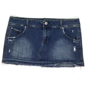 Taunt Women's Mini Skirt Size 13 W36 Blue